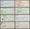 Autographs:Checks, Baseball Greats Signed Checks Lot Of 8....