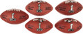 Football Collectibles:Balls, 2011 Super Bowl XLV Leather Wilson Game Footballs Lot of 5 - Packers Vs. Steelers. ...