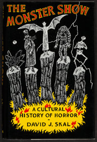 "The Monster Show: A Cultural History of Horror (W.W, Norton, 1993). Hard Cover Book (432 Pages, 6.5"" X 9.5"")..."