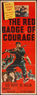 "The Red Badge of Courage (MGM, 1951). Insert (14"" X 36""). War"