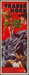 """Movie Posters:Adventure, Trader Horn (MGM, R-1953). Insert (14"""" X 36""""). Adventure.. ..."""