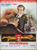 "Movie Posters:James Bond, Goldfinger (United Artists, R-1970s). French Grande (47"" X 63""). James Bond.. ..."