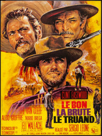 """The Good, the Bad and the Ugly (United Artists, R-Late 1970s). French Grande (47"""" X 63""""). Western"""