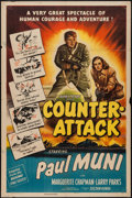 """Movie Posters:War, Counter-Attack (Columbia, 1945). One Sheet (27"""" X 41""""). War.. ..."""