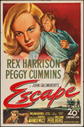 "Movie Posters:Thriller, Escape (20th Century Fox, 1948). One Sheet (27"" X 41""). Thriller.. ..."