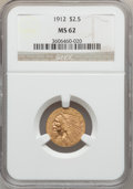 Indian Quarter Eagles: , 1912 $2 1/2 MS62 NGC. NGC Census: (2464/1755). PCGS Population(1066/1301). Mintage: 616,000. Numismedia Wsl. Price for pro...