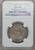 Seated Half Dollars: , 1852-O 50C -- Improperly Cleaned -- NGC Details. VF. NGC Census:(1/34). PCGS Population (0/74). Mintage: 144,000. Numismed...