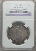 Bust Half Dollars, 1820 50C Curl Base 2, Small Date -- Obverse Improperly Cleaned --NGC Details. AU. NGC Census: (18/1522). PCGS Population (...