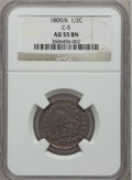 Half Cents: , 1809/6 1/2 C AU55 NGC. C-5. NGC Census: (26/74). PCGS Population(25/41). Mintage: 1,154,572. Numismedia Wsl. Price for pro...
