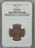 Half Cents: , 1856 1/2 C MS64 Brown NGC. C-1. NGC Census: (50/13). PCGSPopulation (15/2). Mintage: 40,430. Numismedia Wsl. Price forpro...