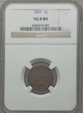 Indian Cents: , 1877 1C VG8 NGC. NGC Census: (193/1293). PCGS Population(288/2123). Mintage: 852,500. Numismedia Wsl. Price for problemfr...