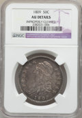 Bust Half Dollars: , 1809 50C Normal Edge -- Improperly Cleaned -- NGC Details. AU. NGCCensus: (29/480). PCGS Population (54/221). Mintage: 1,4...