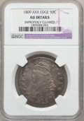 Bust Half Dollars: , 1809 50C XXX Edge -- Improperly Cleaned -- NGC Details. AU. NGCCensus: (6/14). PCGS Population (7/25). Numismedia Wsl. Pr...