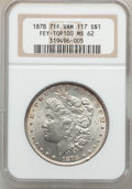 Morgan Dollars: , 1878 7TF $1 Reverse of 1878 MS62 NGC. Vam-117. Fey. Top 100. NGCCensus: (1921/8427). PCGS Population (1937/6969). Mintage...