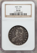 Bust Half Dollars: , 1822 50C XF45 NGC. O-111. NGC Census: (71/578). PCGS Population(85/494). Mintage: 1,559,573. Numismedia Wsl. Price for pr...