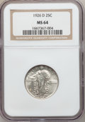 Standing Liberty Quarters: , 1926-D 25C MS64 NGC. NGC Census: (954/259). PCGS Population(1441/210). Mintage: 1,716,000. Numismedia Wsl. Price for probl...