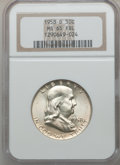 Franklin Half Dollars, 1958-D 50C MS65 Full Bell Lines NGC and a 1963-D MS65 Full BellLines NGC.... (Total: 2 coins)