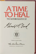 Books:Americana & American History, Gerald R. Ford. SIGNED. A Time to Heal. Easton Press, 1987.Reprint edition. Signed by the author. Publisher...