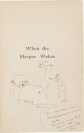Books:Literature 1900-up, H. G. Wells. When the Sleeper Wakes. London and New York:Harper & Brothers Publishers, 1899. First edition. Prese...