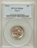 Buffalo Nickels: , 1913 5C Type One MS66 PCGS. PCGS Population (1759/450). NGC Census:(1217/279). Mintage: 30,993,520. Numismedia Wsl. Price ...