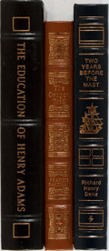 Books:Americana & American History, [American History]. Richard Henry Dana, Francis Parkman, and HenryAdams. Group of Three Books Published by Easton Press. Pu...(Total: 3 Items)