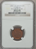 Civil War Merchants, (1861-65) E.G. Selby & Company, Bryan, OH, MS63 Red and BrownNGC. Fuld-OH100B-3a....