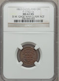 Civil War Merchants, 1863 C.B. Bruce War Claim Agent, Cleveland, OH., MS62 Brown NGC.Fuld-OH175C-1a. Incorrectly attributed by NGC as Fuld-OH175G-...