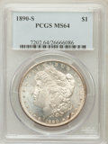 Morgan Dollars: , 1890-S $1 MS64 PCGS. PCGS Population (2890/800). NGC Census:(2121/419). Mintage: 8,230,373. Numismedia Wsl. Price for prob...