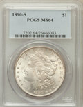 Morgan Dollars: , 1890-S $1 MS64 PCGS. PCGS Population (2890/795). NGC Census:(2120/418). Mintage: 8,230,373. Numismedia Wsl. Price for prob...
