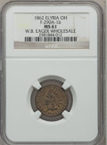 Civil War Merchants, 1862 W.B. Eager Wholesale, Elyria, OH, MS61 NGC. Fuld-OH290A-2b.Incorrectly attributed by NGC as Fuld-OH290A-1b....