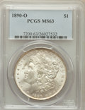 Morgan Dollars: , 1890-O $1 MS63 PCGS. PCGS Population (3942/3782). NGC Census:(3316/2920). Mintage: 10,701,000. Numismedia Wsl. Price for p...
