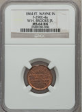 Civil War Merchants, 1864 W.H. Brooks Jr., Ft. Wayne, IN, MS64 Brown NGC.Fuld-IN290E-4a....