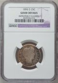 Barber Quarters: , 1896-S 25C -- Improperly Cleaned -- NGC Details. Good. NGC Census:(83/175). PCGS Population (171/483). Mintage: 188,039. N...