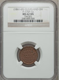 Civil War Merchants, (1861-65) Tages, Cleveland, OH MS62 Brown NGC. Fuld-OH175P-1a....