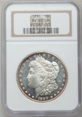 Morgan Dollars: , 1890 $1 MS63 Deep Mirror Prooflike NGC. NGC Census: (74/39). PCGSPopulation (73/103). Numismedia Wsl. Price for problem f...