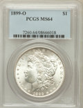 Morgan Dollars: , 1899-O $1 MS64 PCGS. PCGS Population (21066/8511). NGC Census:(23153/8598). Mintage: 12,290,000. Numismedia Wsl. Price for...