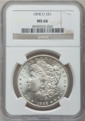 Morgan Dollars: , 1898-O $1 MS66 NGC. NGC Census: (1857/174). PCGS Population(1847/153). Mintage: 4,440,000. Numismedia Wsl. Price for probl...