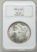 Morgan Dollars: , 1890-O $1 MS64 NGC. NGC Census: (2729/190). PCGS Population(3290/471). Mintage: 10,701,000. Numismedia Wsl. Price for prob...
