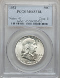 Franklin Half Dollars, 1952 50C MS65 Full Bell Lines PCGS and a 1952-D MS65 Full BellLines PCGS.... (Total: 2 coins)