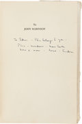 Books:Literature 1900-up, Eudora Welty. Delta Wedding. New York: Harcourt, Brace andCompany, [1946]. First edition of her first novel. Dedi...