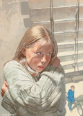 Pulp, Pulp-like, Digests, and Paperback Art, MIKE ADAMS (American, 20th Century). Lo sono Judith (I amJudith), paperback cover, 1997. Watercolor and gouache onpape... (Total: 2 Items)