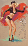 Pin-up and Glamour Art, K.O. (KNUTE) MUNSON (American, 20th Century). The Dancer.Pastel on board. 32.5 x 20.5 in.. Signed lower right.From...