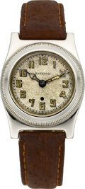 Timepieces:Wristwatch, Harwood Rare 14k White Gold Patented Self-Winding Wristwatch, circa1923. ...
