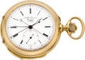 Timepieces:Pocket (pre 1900) , J. Alfred Jurgensen Gold Tandem Wind Minute Repeater With Split Seconds & 1/5th Second Jump, circa 1880's. ...