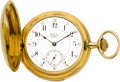 Timepieces:Pocket (post 1900), Golay Gold Minute Repeater, circa 1900. ...