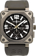 Timepieces:Wristwatch, Bell & Ross Pro BR01-94 TT Automatic Chronograph. ...