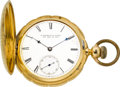 Timepieces:Pocket (pre 1900) , E. Howard & Co. 18k Gold Series IV With Abbott's Patent LeverSetting, circa 1868. ...