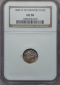 Seated Half Dimes: , 1840-O H10C No Drapery AU58 NGC. NGC Census: (16/13). PCGSPopulation (4/13). Mintage: 695,000. Numismedia Wsl. Price for p...