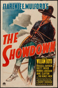 """Movie Posters:Western, The Showdown (Paramount, 1940). One Sheet (27"""" X 41""""). Western.. ..."""