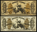 Fractional Currency:Third Issue, Fr. 1355 50¢ Third Issue Justice. Fr. 1362 50¢ Third Issue Justice.. ... (Total: 2 notes)